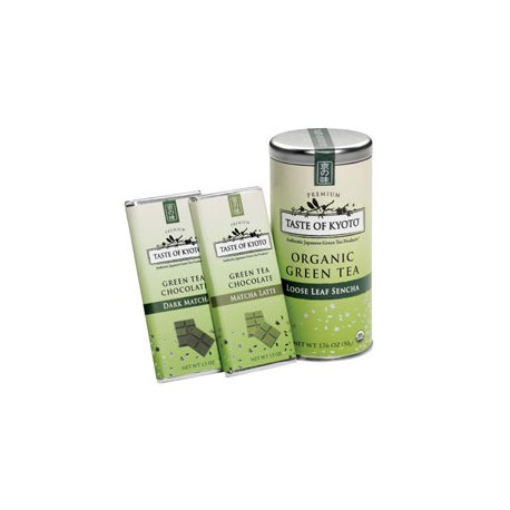Taste of Kyoto Organic Green Tea Sencha Gift Set