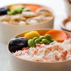 蟹わっぱめし 食べ比べ