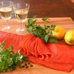 天然紅鮭スモークサーモン(半身スライス) 700~800g