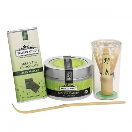 Taste of Kyoto Organic Green Tea Matcha Gift Set