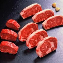 アメリカ産ステーキ食べくらべ(3種各3枚)