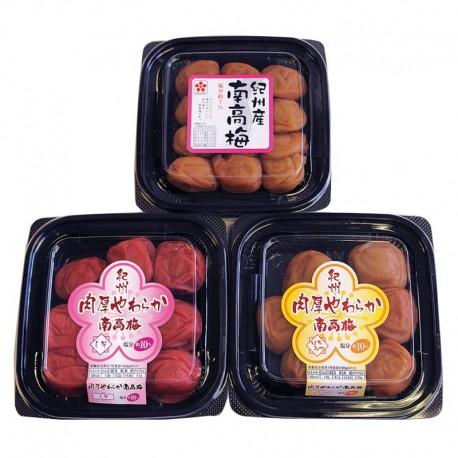 Set of 3 NANKOBAI (Pickled Plum)