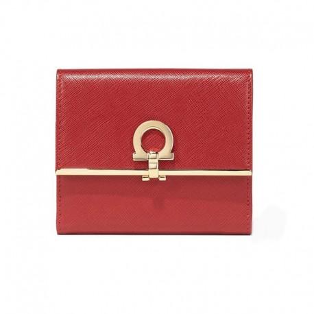 Ferragamo - Womens - French Wallet (Rosso 549421)