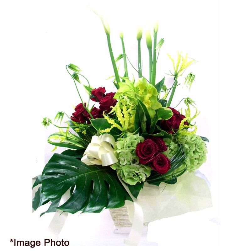 Arrangement Rose Calla Lily Jal Shopping Americas
