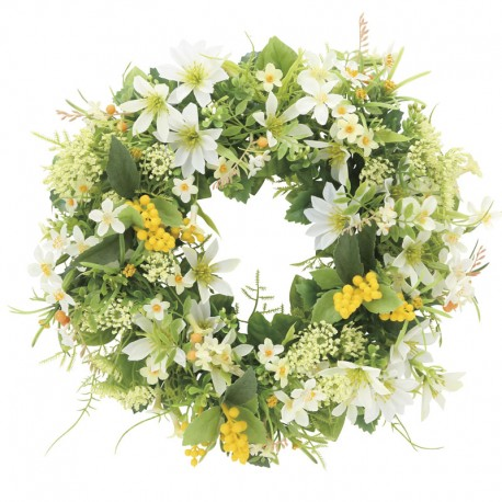 Photocatalyst White & Green Mix Wreath