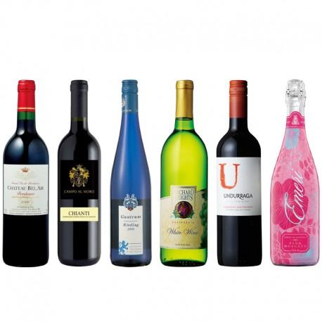 世界のワイン6本セット