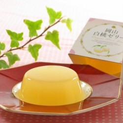 Okayama White Peach Sherbet Jelly (JULY~AUG)