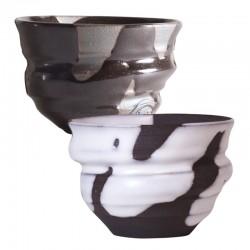 仁秀 ブラック&ホワイト フリーカップセット