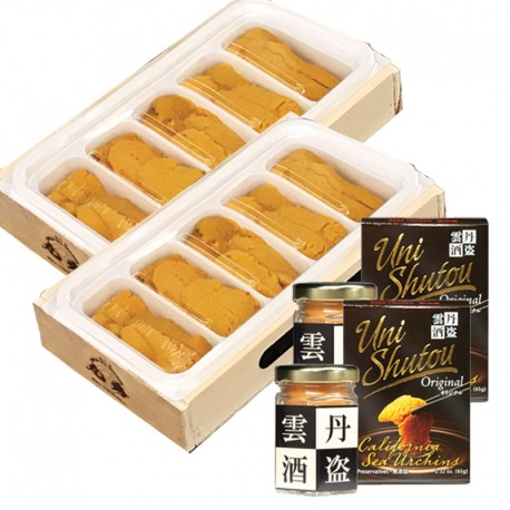 Sea Urchin 5 Pocket Tray x 2 & Uni Shutou x 2