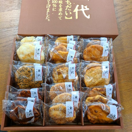 KOME ICHIDAI Baked Rice Crackers x 2 (Gift Box)