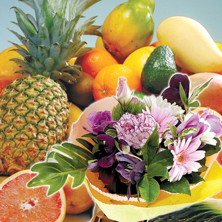 Fruits Variety Set C & Mini Flower