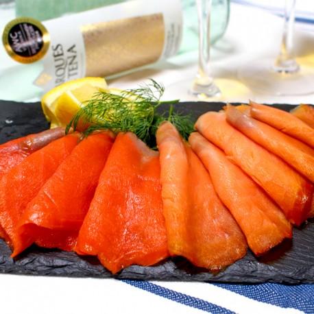 Canadian Wild Smoked King & Sockeye Salmon Set