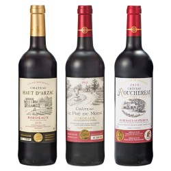Bordeaux Gold Award Red Wine 3 Bottle Set