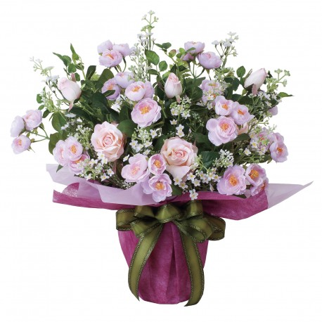 Photocatalyst Pink Rose Bouquet Arrangement