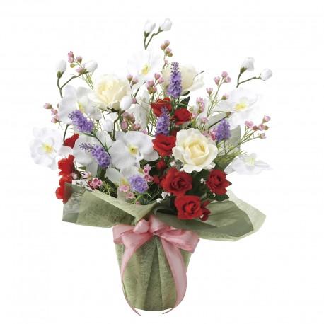 Photocatalyst Bouquet Arrangement With Orchids