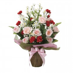 Photocatalyst Pink & Red Rose Bouquet Arrangement