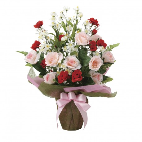 Photocatalyst Pink & Red Rose Bouquet Arrangement