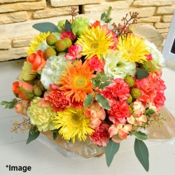 Round Arrangement Natural (Orange & Yellow)